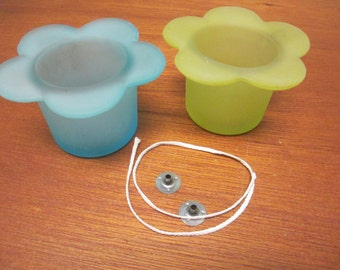 Decorative soy wax candle empty containers an wick with anchors Make your own dyi