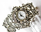 Bracelet Watch Women Floral Silver Watch Ladies Victorian Watch Vintage Style Women Unique Watches Victorian Jewelry