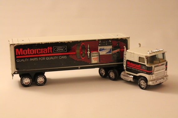 1988 nylint ford motorcraft die cast toy semi truck for Metal craft trailers parts