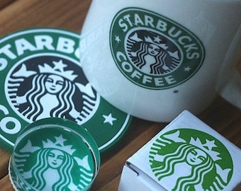 Korea DIY Crystal Round Stamp-Starbucks