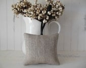 TWO Lavender Sachets Made Fresh Upon Order,Two Fragrant French Lavender Sachets in Natural Linen - Handmade, Home Decor
