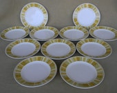 Vintage Mid Century Franciscan Antigua Bread or Dessert Plates Set of 11 Dinnerware Serving