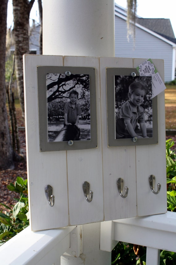 Distressed Picture Frame Double 4x6 Keyhook Picture Frame