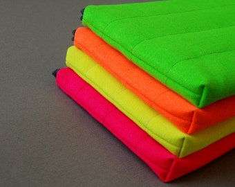 11inch Laptop Case, for  MacBook Air and other laptop models, Padded/Cotton Canvas, Neon and Colorful.