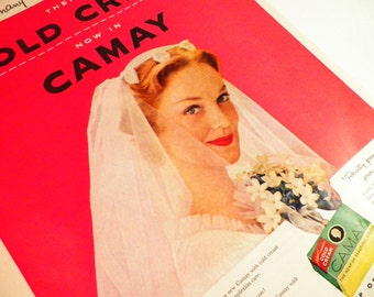 Camay Soap Ad Bathroom Decor Vintage 1950s