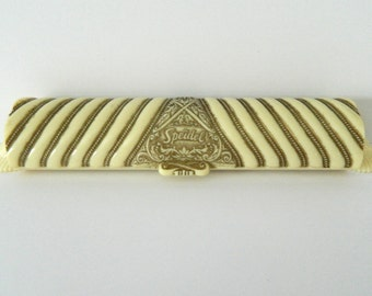 Speidel Watch Band Bracelet Box Golden Harvest Gold Ribbon Series Vintage 1950's Celluloid Box