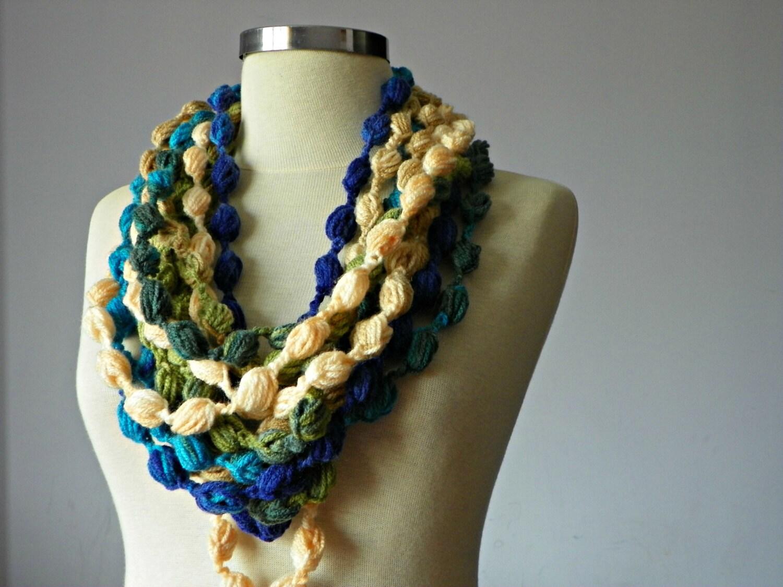 sale crochet scarf infinity scarf chunky scarf cowl scarf