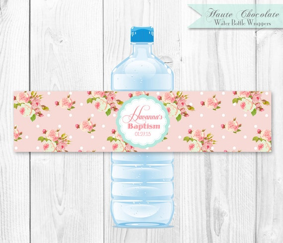 Items similar to vintage shabby chic water bottle labels for Tapis shabby chic