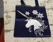 Vintage Unicorn Snowflake Tote 1984