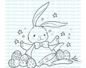Digital Stamp Easter Bunny