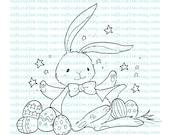 Digital Stamp Easter Bunny