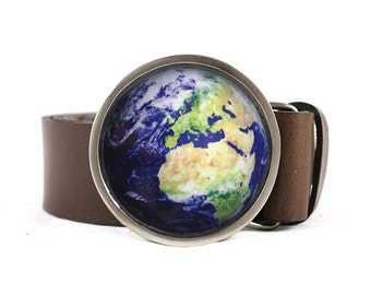 Planet Earth Belt Buckle, Globe belt buckle, Nature belt buckle