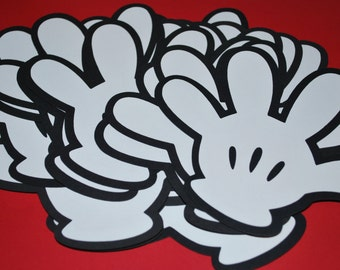 """Mickey Mouse Die Cut Gloves (20) 5"""""""