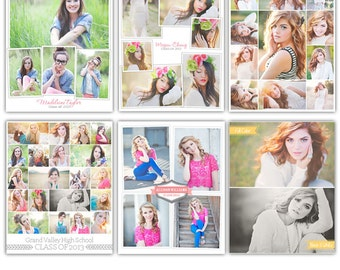 INSTANT DOWNLOAD - 12 Collage Layouts - 16x20 and 16x16 Print & Blog boards - E814