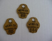 brass metal hotel key tags vintage style