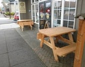Mini Picnic Table with Folding Benches