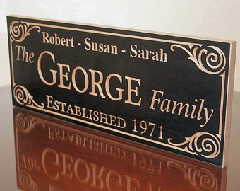 Mr Mrs Wood Sign, Carved Wood Sign, Established Date Sign, Special Date Sign, Personalized Sign, Benchmark Custom Signs, Maple GG