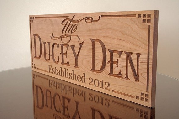Man Cave Wood Signs : Man cave sign custom wood signs carved by