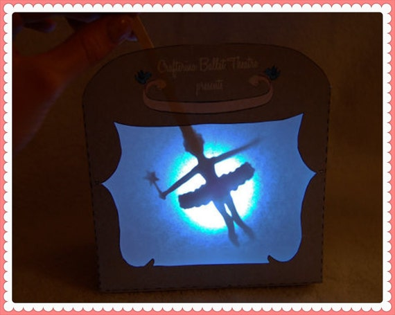 Shadow Puppet Theater Printable PDF Kit - Printable PDF- DIY Craft Kit - Child Toy - Play & Pretend - Slumber Party