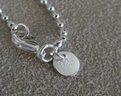 """20"""" Ball Bead Sterling Silver Chain"""