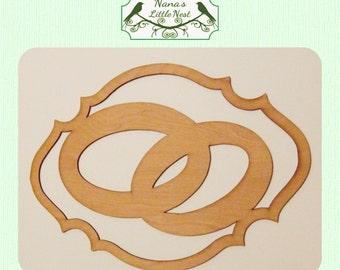 Wedding Ring Wood Cut Out - Laser Cut