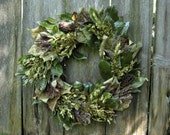 Natural Spring Wreath - Flower, Fruit and Leaf - Photinia, Lavender, Magnolia, Poplar, Aspen & Boxwood