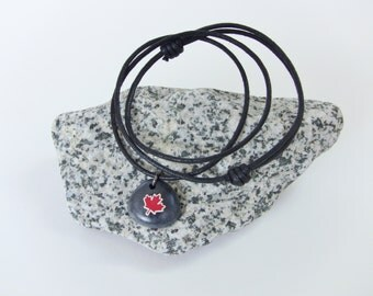 CANADA Necklace - Maple Leaf Necklace - Canadian Souvenier Gift - Unique Canadian Tourist gift - Canadian theme jewelry -