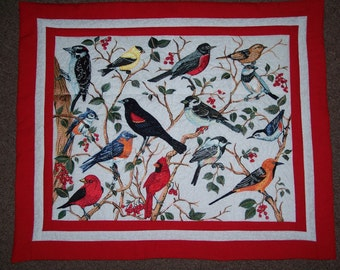 Songbirds Embroidered Wallhanging