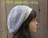 Crochet Pattern - Slouchy  Spring Hat, Crochet Pattern PDF,  Pattern No. 44