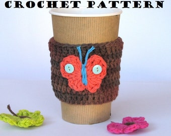 Crochet Pattern PDF, Coffee Cozy ,Coffee Sleeve, Tea Cozy, Cup Warmer, Crochet Cozy, Easy, Great for Beginners,Pattern No. 4