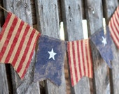 4th of July flag burlap banner (customazable size)