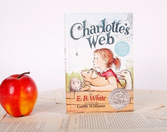 Kindle Cover or Nook Cover- Ereader Case made from a Book- Charlottes Web