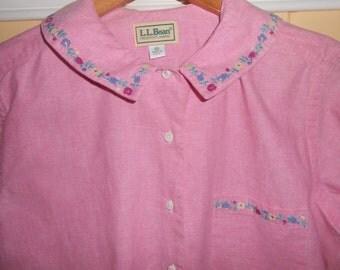 Woman's L.L.Bean Pink Spring Shirt