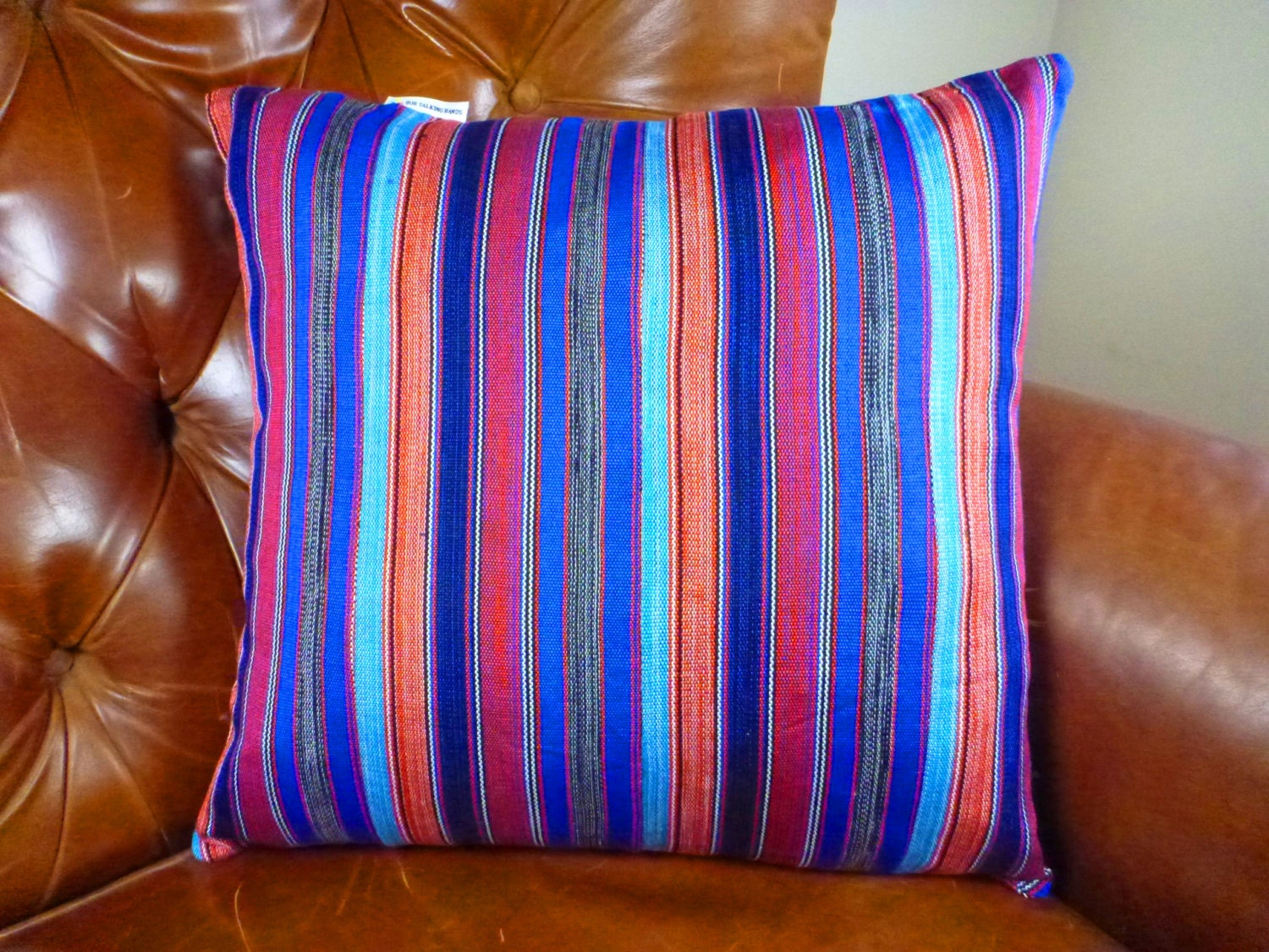 Throw Pillow Cover Ghana Home Decor 14 x 14 Handmade