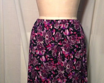 Vintage Briggs New York Floral Skirt Size 14 b8