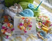 Crochet Flower Cards, Affirmation Cards, Set of six, Poetry Cards,Gift Cards, Greeting Cards Set B, Kathleen Leasure