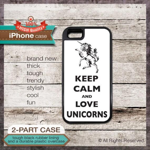 Keep Calm And Love Unicorns - iPhone 6, 6+, 5 5S, 5C, 4 4S, Samsung Galaxy S3, S4