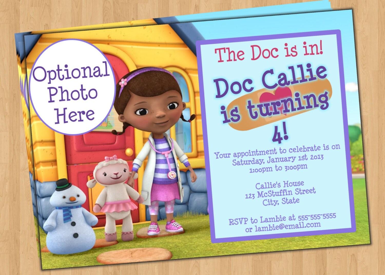 Free Doc Mcstuffins Invitations as perfect invitations example