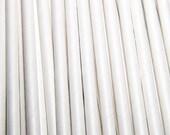 Vintage Style White Paper Straws