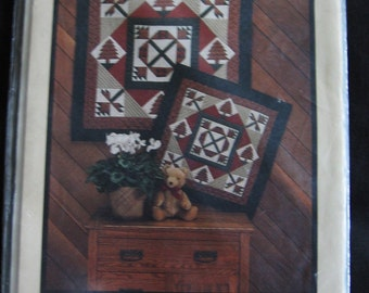 Woodlands Wall Quilt Pattern Uncut Rustic Country Cabin Pine Tree OOP Quilting