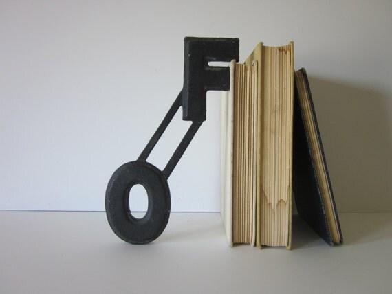 "vintage metal marquee letter: word ""of"""