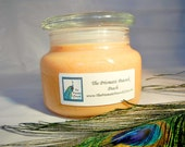 Peach Scented Soy Candle 12 oz Apothecary Jar