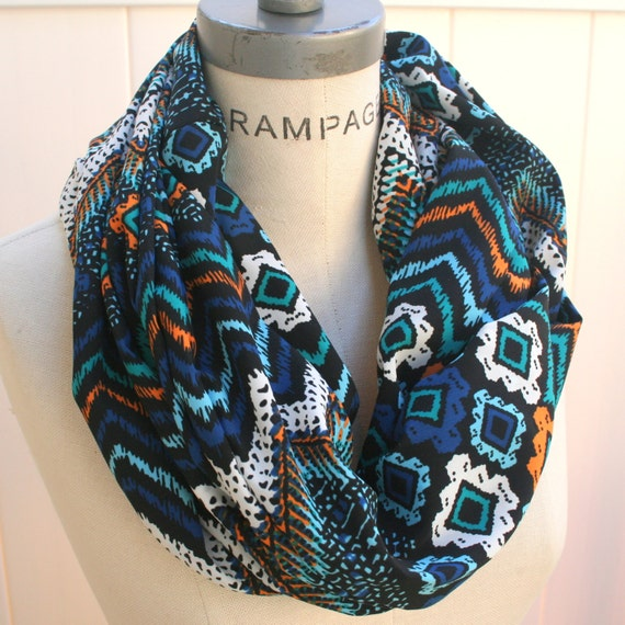 chevron scarf tribal print infinity scarf scarves