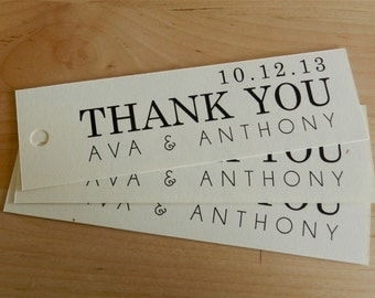 Personalized Thank You Tags - Wedding Favor - Century