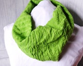 Bright Green Cowl Neck Infiniti Scarf.