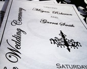 Foldable Wedding Programs - Chandelovely Chandelier Collection - 10% OFF SALE