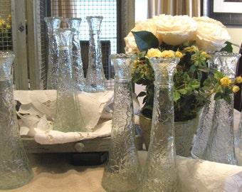 Vintage Wedding Décor Florist Glass Bud Vases LOT of 13