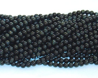 "Hawk's Eye (Blue Tiger's Eye) 6mm Round Gemstone Beads - 15.75"" Strand"