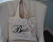 Vintage inspired Bride Tote Bag