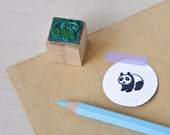 "Eco-friendly rubber stamp ""Panda"""